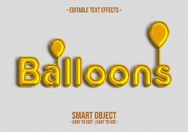 Эффект стиля текста воздушного шара