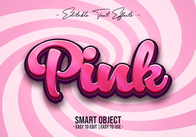 ピンクのテキストスタイル効果