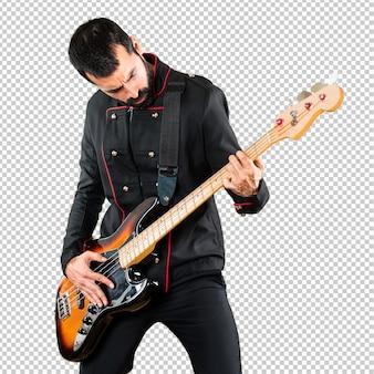 ギターを持つハンサムな男