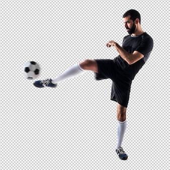 男はサッカーをする