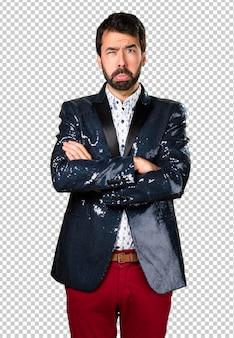 ジャケット付きの悲しい男