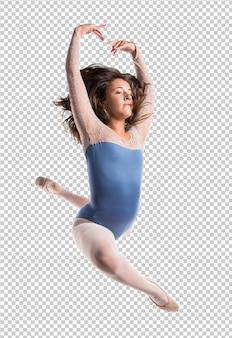 美しい少女バレエジャンプ