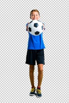 サッカーをしている少年