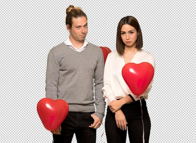悲しいと落ち込んで式とバレンタインの日のカップル