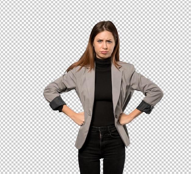 怒っている女性実業家