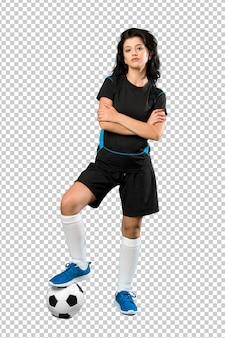 若いフットボール選手の女性