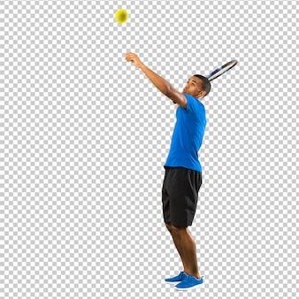 Афро-американский теннисист человек