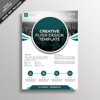 クリエイティブなビジネススタイルのチラシのデザインテンプレート