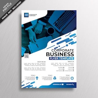 Синий современный стиль дизайна корпоративного бизнеса флаер шаблон