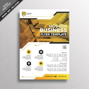 Современный стиль бизнес флаер шаблон дизайна