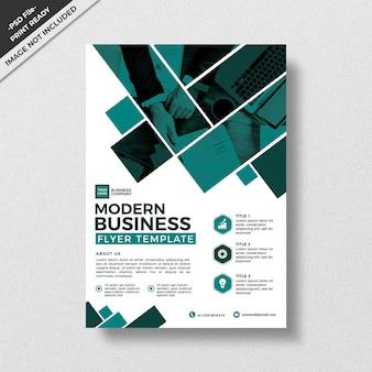 モダンな幾何学抽象スタイルのビジネスチラシテンプレートデザイン