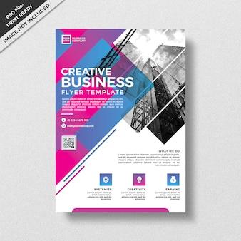 Креативный абстрактный стиль геометрии бизнес флаер шаблон