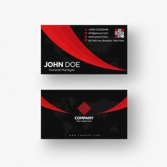 Черный шаблон визитной карточки