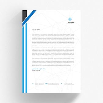 青とグレーの詳細と白の履歴書テンプレート