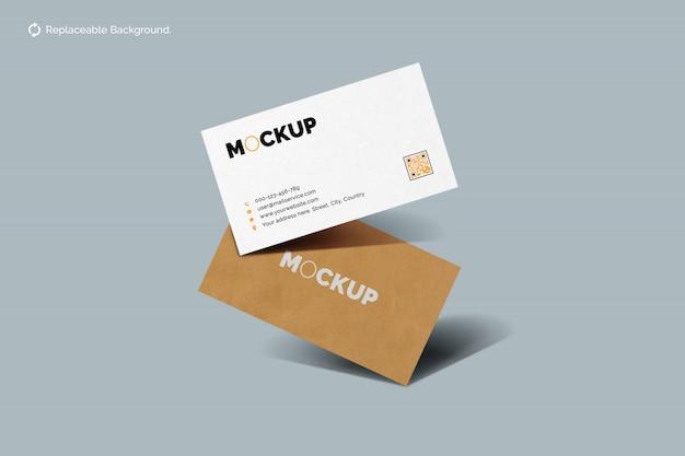 Плавающий макет визитки
