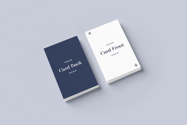 Горизонтальный двухсторонний макет визитки