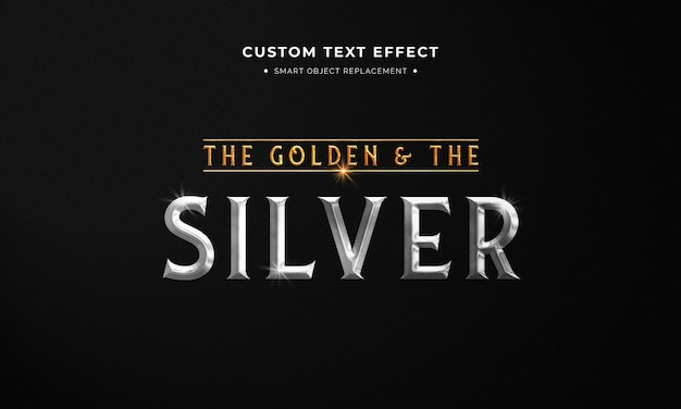 金と銀のテキストスタイル