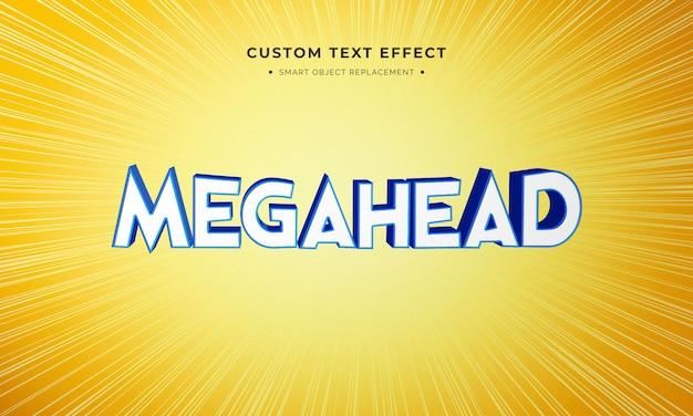 Эффект анимационного фильма в стиле текста