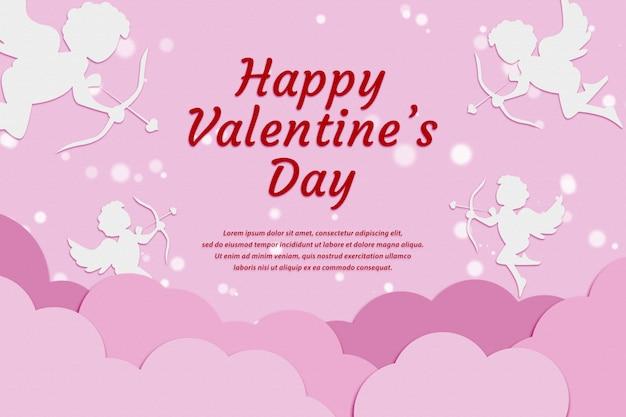 Счастливый день святого валентина фон