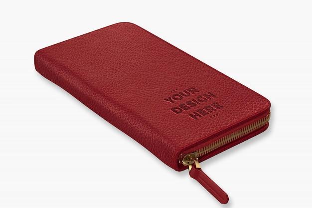 赤い財布モックアップテンプレート