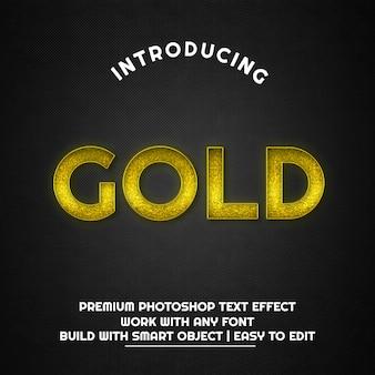 ゴールド-テキスト効果テンプレート