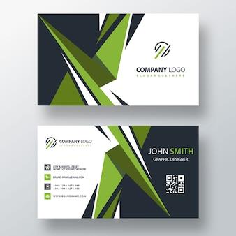 Дизайн зеленой визитки