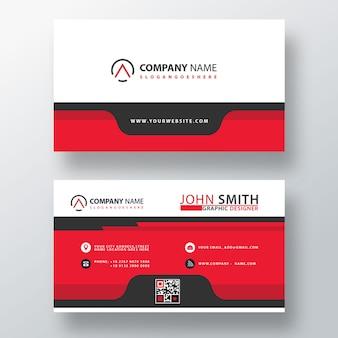 赤の抽象的な会社カードテンプレート