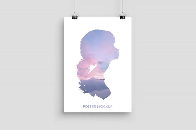 最小限のポスターモックアップ