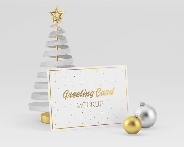 Веселая рождественская открытка макет