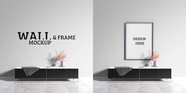 Настенный и каркасный макет - современные декорации шкафов