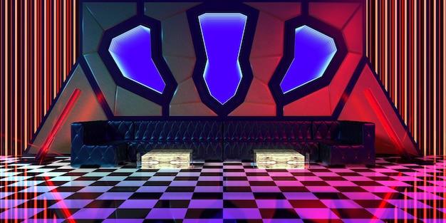 抽象的な線の部屋