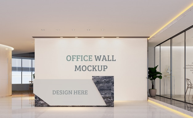 Большое пространство для приема. макет стены