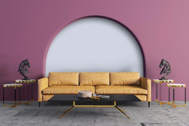 黄色のソファでリビングルームを飾る