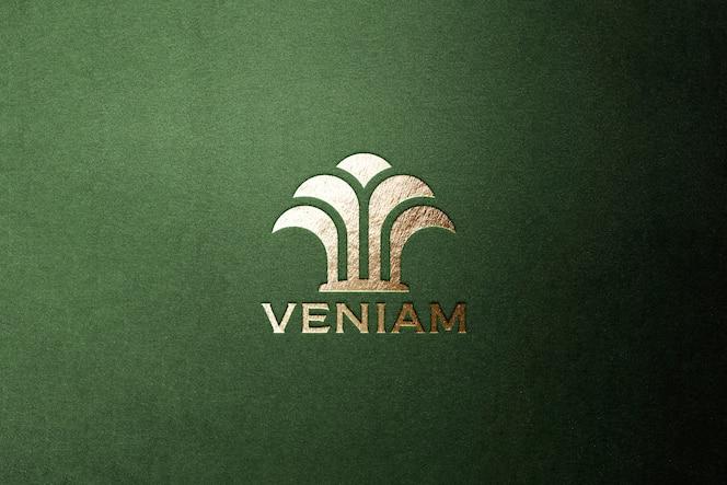 Логотип макет люкс золото