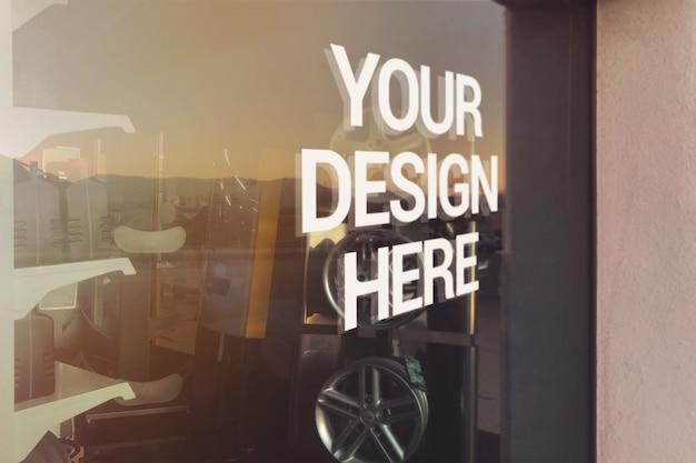 Механический стеклянный макет с логотипом