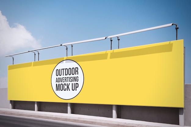 屋外広告看板モックアップテンプレート