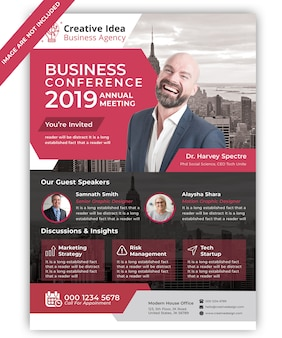 ビジネス会議のチラシ