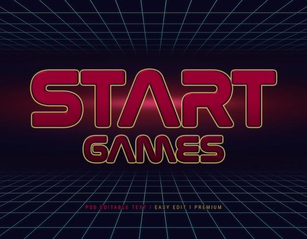 ゲームテキスト効果モックアップを開始
