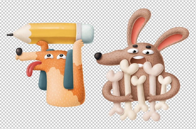 面白い漫画の犬のクリップアート