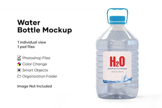 水のボトルのモックアップ