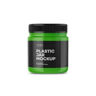 Пластиковая банка макет