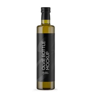 Оливковая бутылка макет