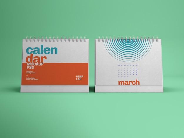 Горизонтальный настольный календарь макет