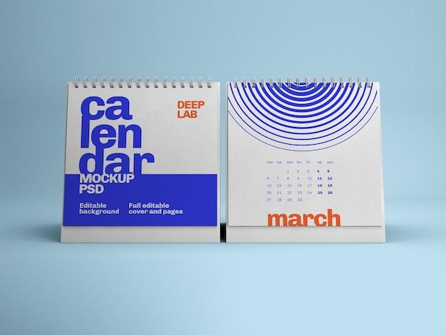 Квадратный настольный календарь макет
