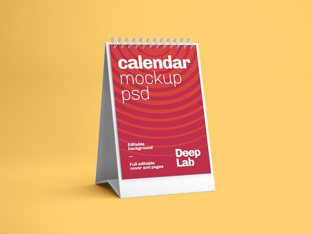 縦型卓上カレンダーモックアップ