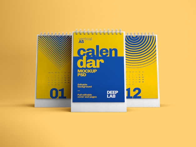 Вертикальный настольный календарь макет