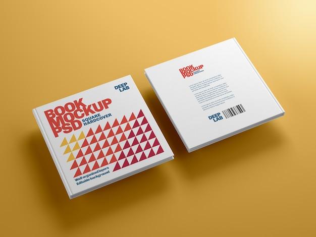 Квадратная книга в твердом переплете с редактируемым макетом цвета фона