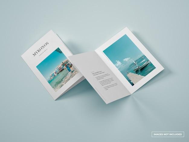 Вертикальный двойной макет брошюры