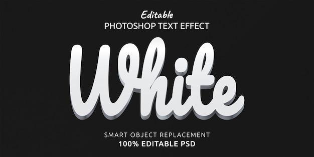 Белый редактируемый текстовый эффект