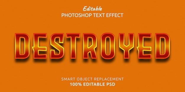 Разрушенный эффект стиля текста